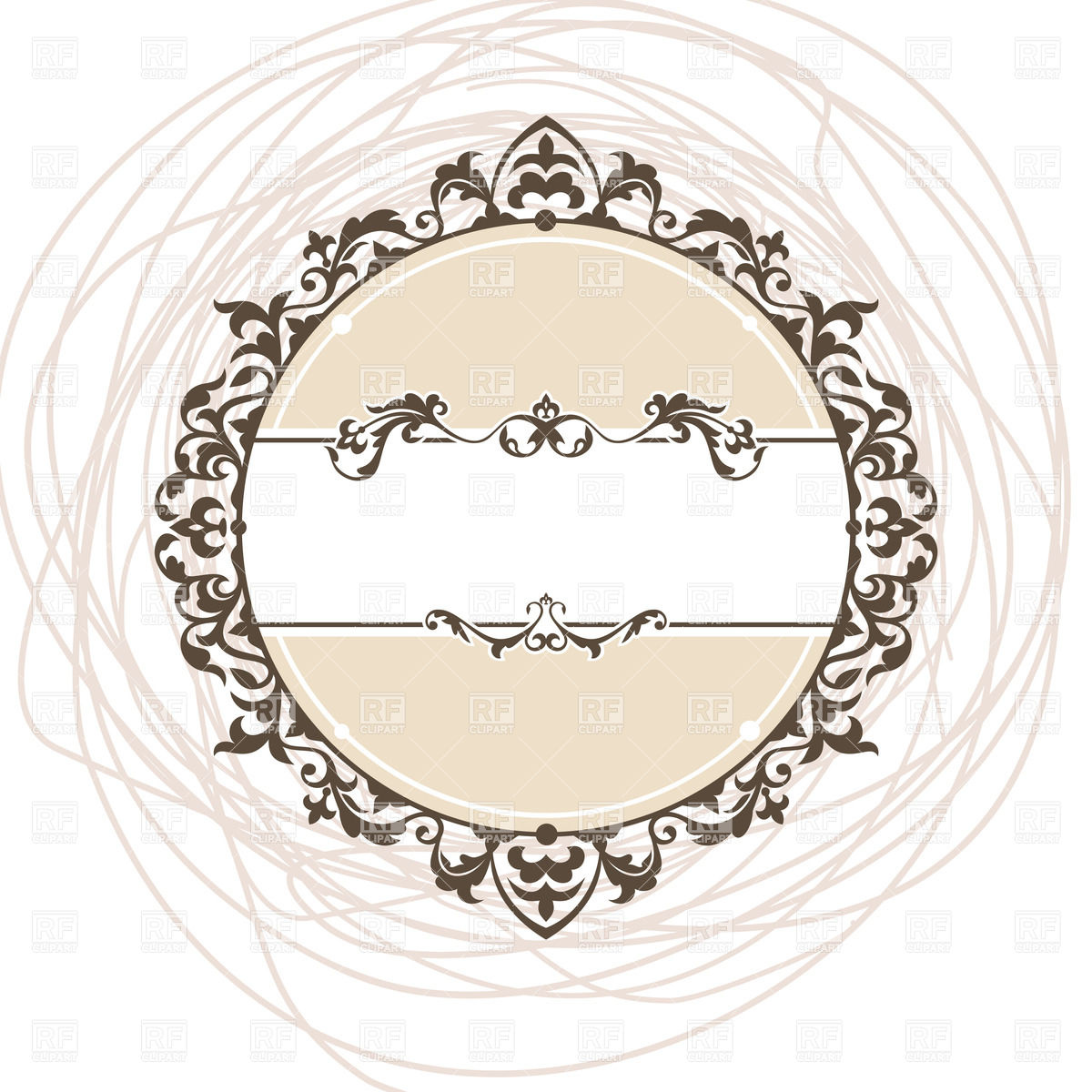 1200x1200 Round Vintage Frame Vector Image Vector Artwork Of Borders And