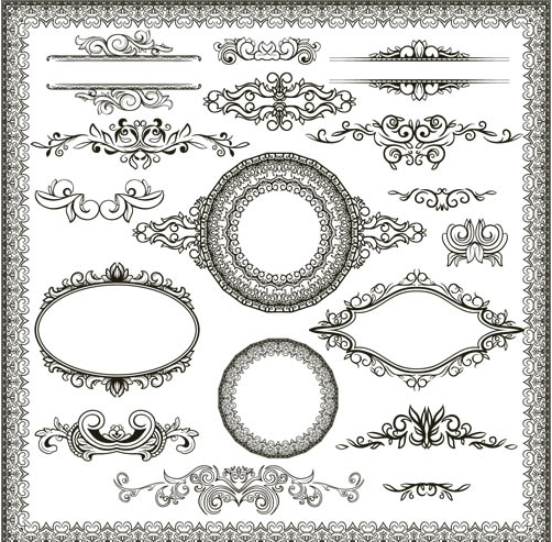 502x493 Stylish Vintage Frames 19 Ai Format Free Vector Download