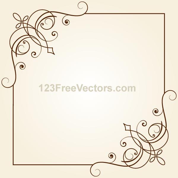 600x600 Vintage Floral Ornament Frame Vector Graphics Free Vectors Ui