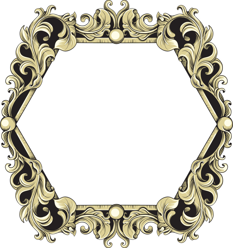 939x1000 Vintage Frame Vector Element Royalty Free Stock Image