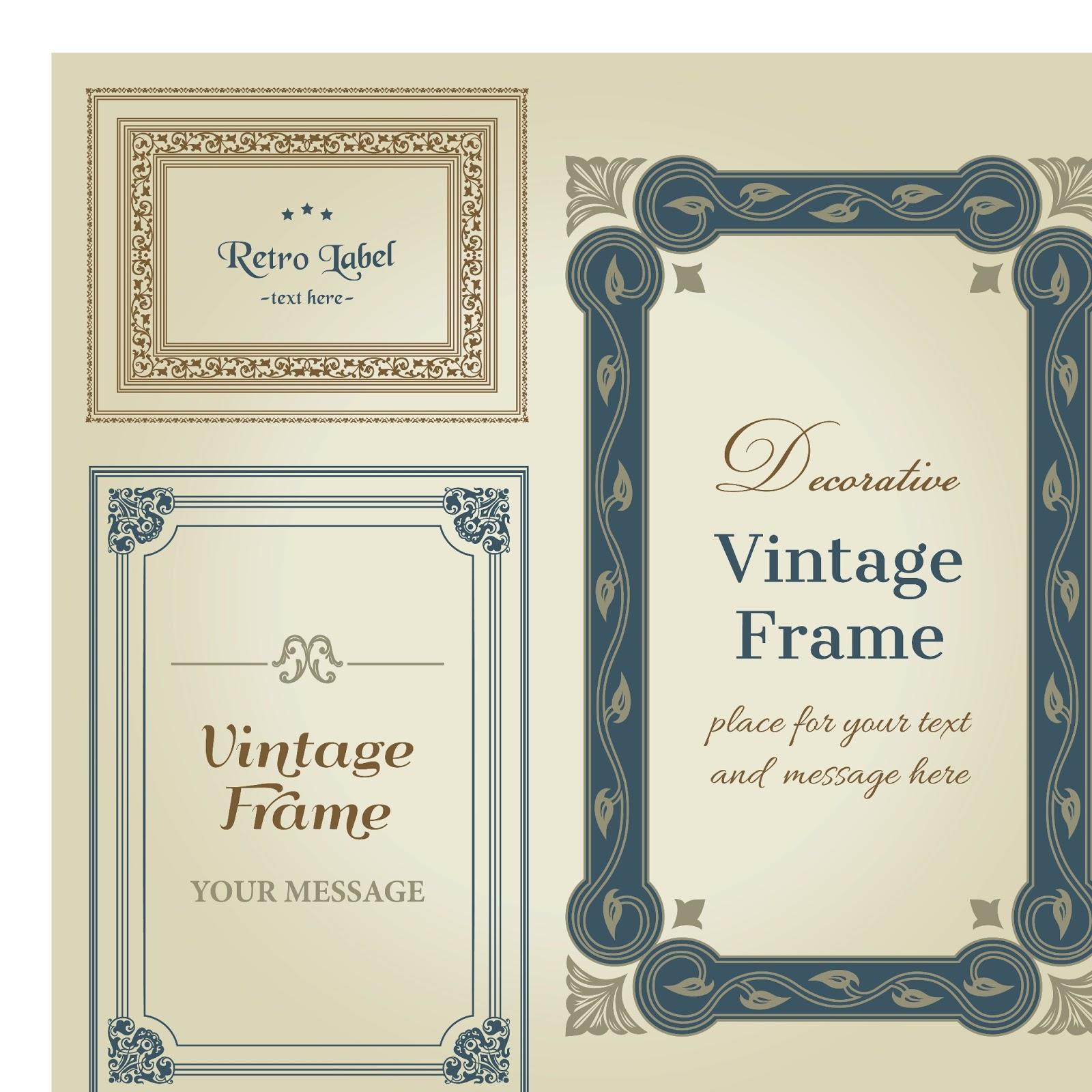 1600x1600 Decorative Vintage Wedding Frame Vector Wedding Card Background