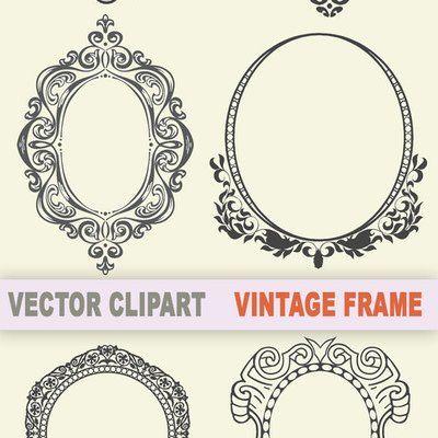 400x400 Frame Vector Art Free Vintage Frame Clipart Trick Or Treat