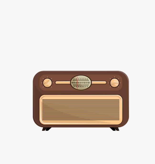 650x688 Vector Dark Vintage Radio, Vector Radio, Dark Radio, Retro Png And