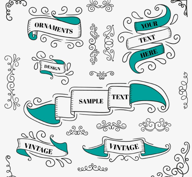 650x599 Pattern With Ribbon, Pattern Vector, Ribbon Vector, Retro Png And