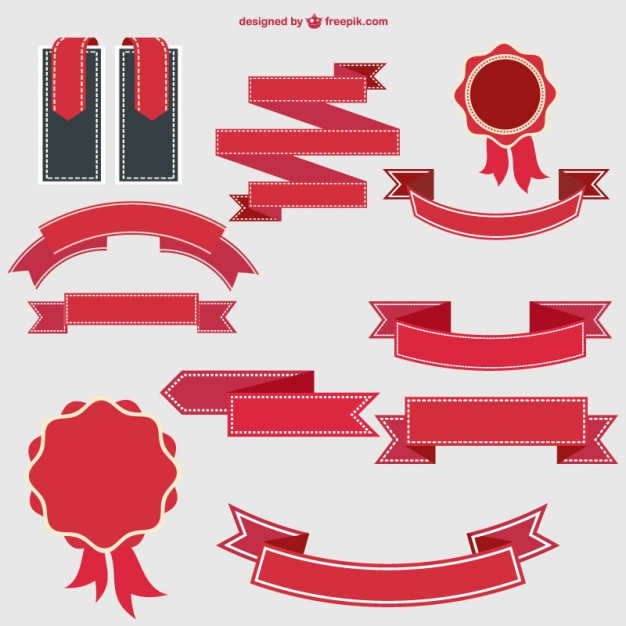 626x626 Retro Ribbons And Badges Design Vector Free Vector Download In