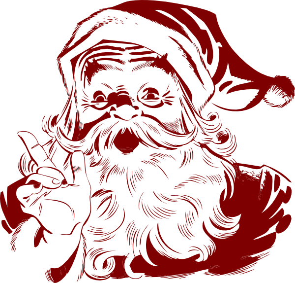 600x574 Collection Of Free Santa Vector Retro. Download On Ubisafe