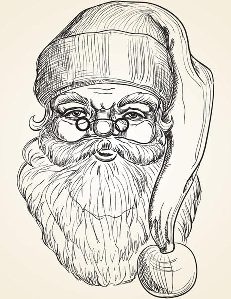464x600 Hand Drawn Vintage Santa Vector Free Vector In Encapsulated