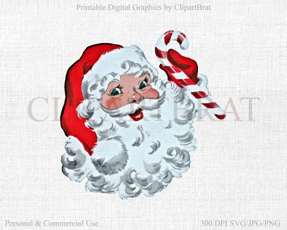 570x456 Retro Santa Clipart Commercial Use Clipart Santa Claus Christmas