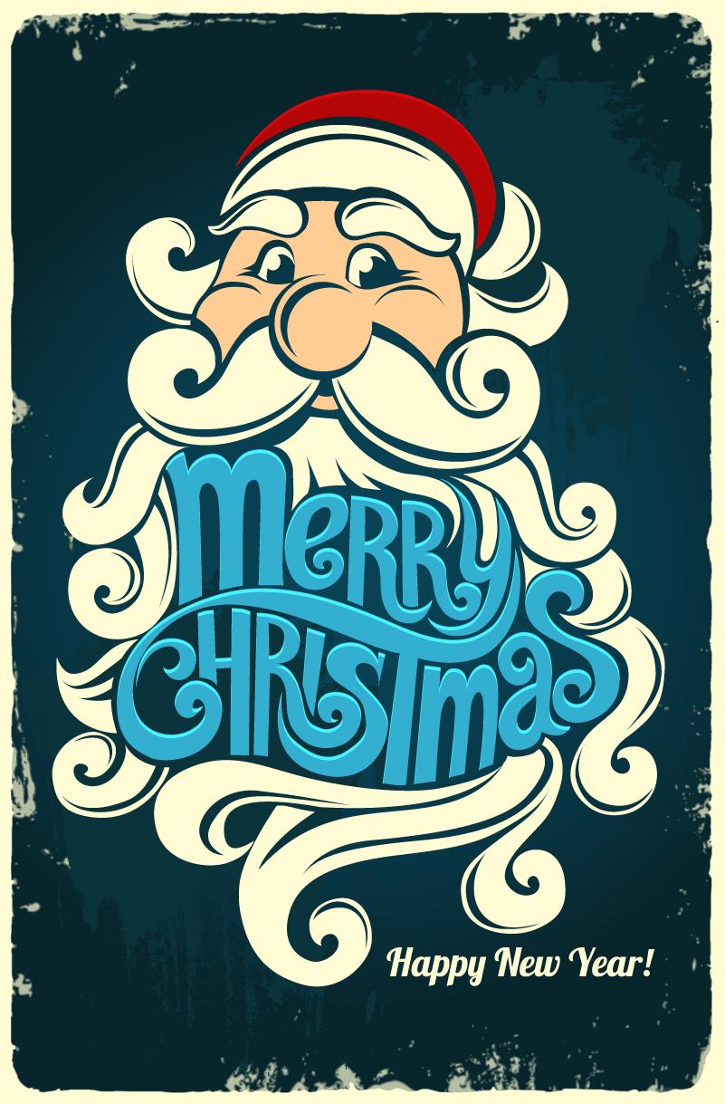 801x1219 Retro Santa Claus Vector Free Vector Graphic Download