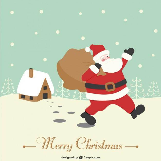 626x625 Retro Santa Claus Vector Vector Free Download