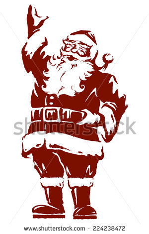 300x470 Collection Of Vintage Santa Drawing High Quality, Free
