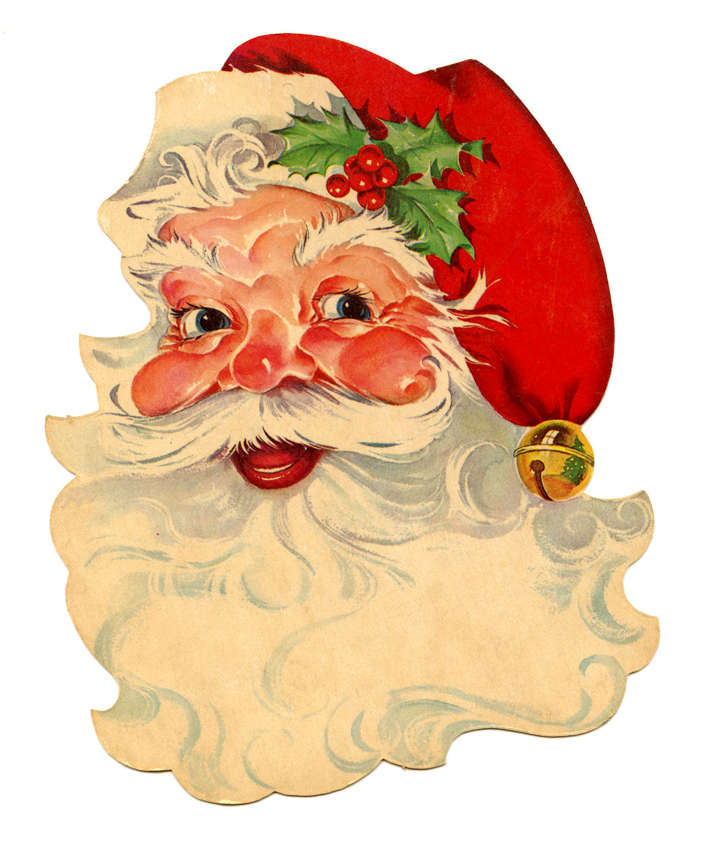 1011x1200 Retro Clipart Santa