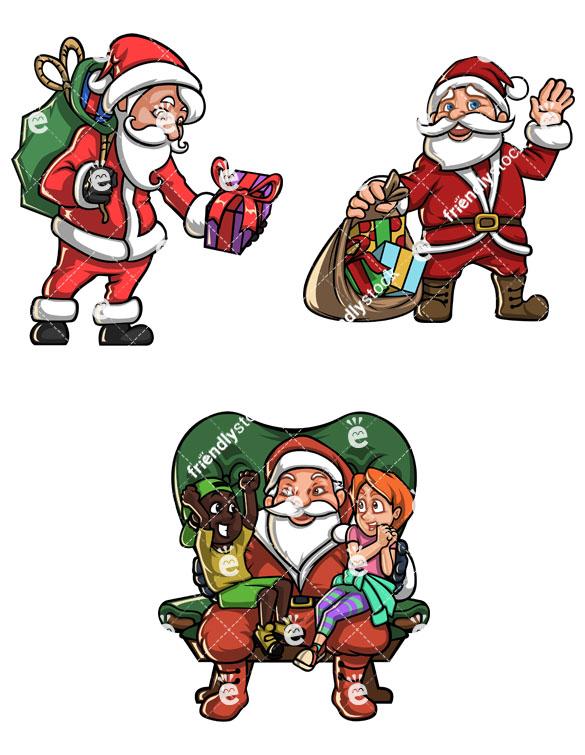 585x755 Vintage Santa Claus Collection