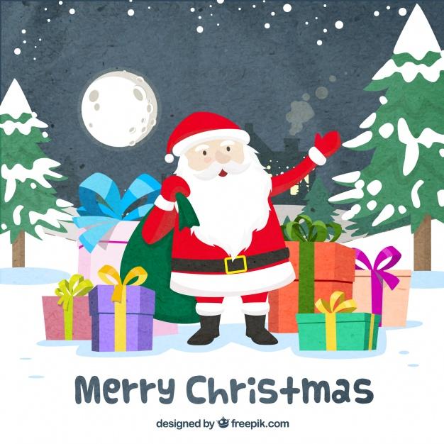 626x626 Vintage Santa Vector Free Download