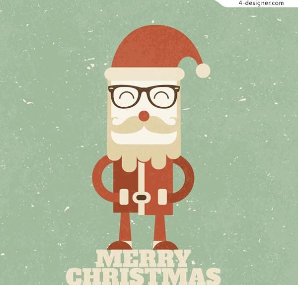 600x574 4 Designer Retro Santa Claus Vector