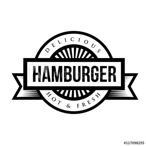 500x500 Hamburger Vintage Stamp Vector
