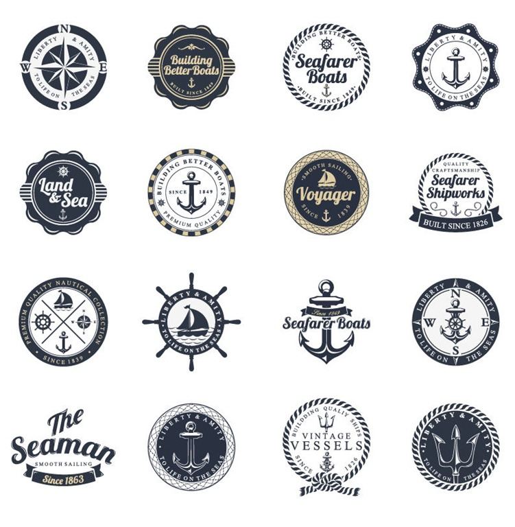 751x768 Ocean And Sea Labels Stamp Vector Set Free Vector Graphics All