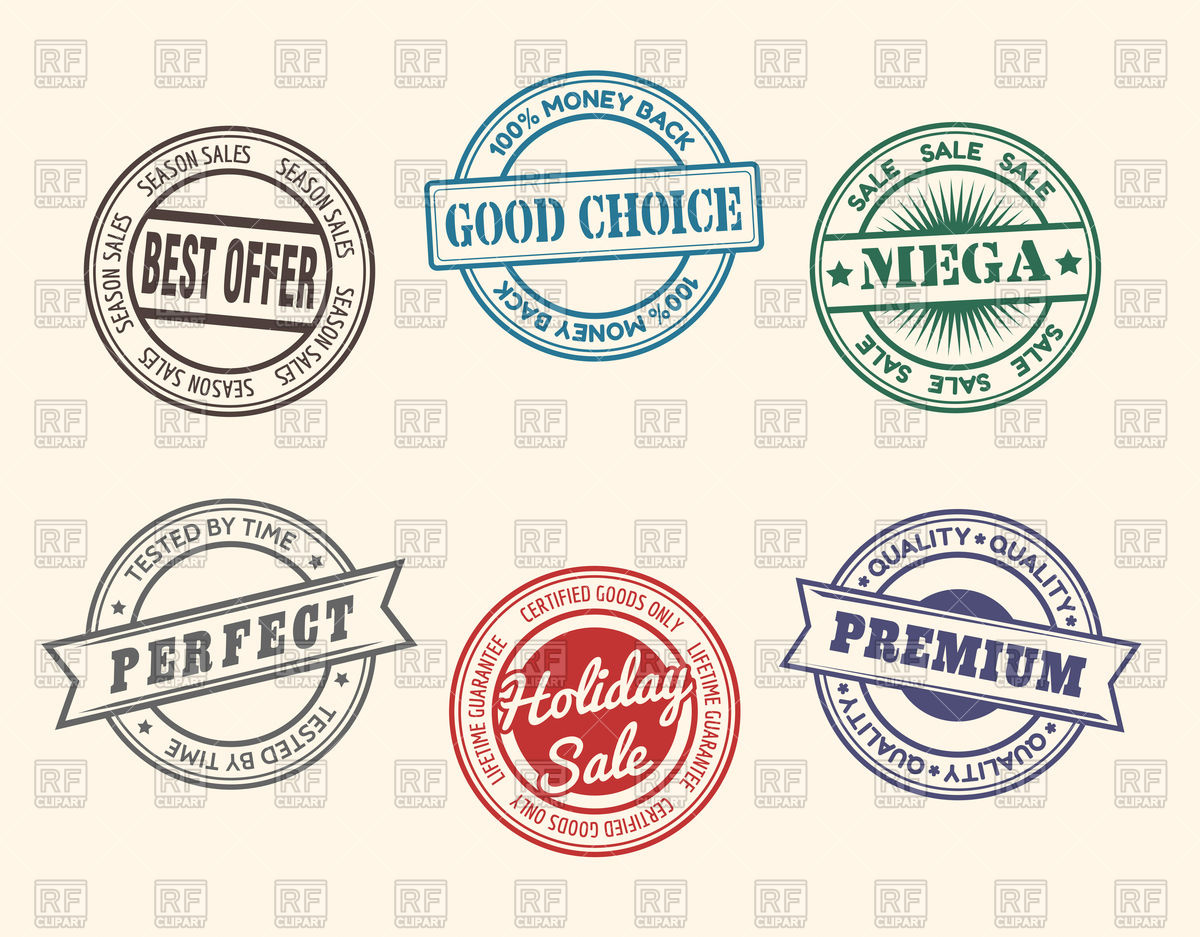 1200x937 Set Of Hand Made Stamps Vector Image Vector Artwork Of Design