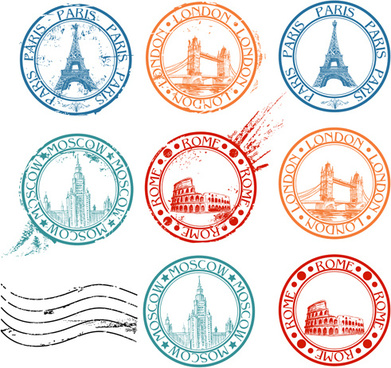 391x368 Travel Stamp Free Vector Download (2,194 Free Vector) For