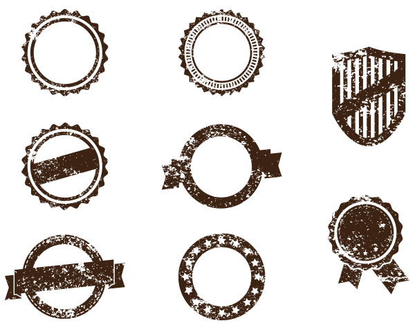 600x476 8 Grunge Badge Stamp Vector Pack