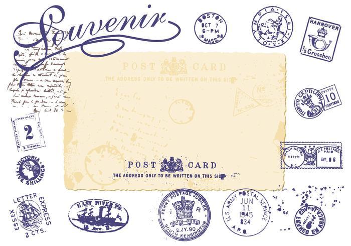 700x490 Vintage Stamp Vector Pack