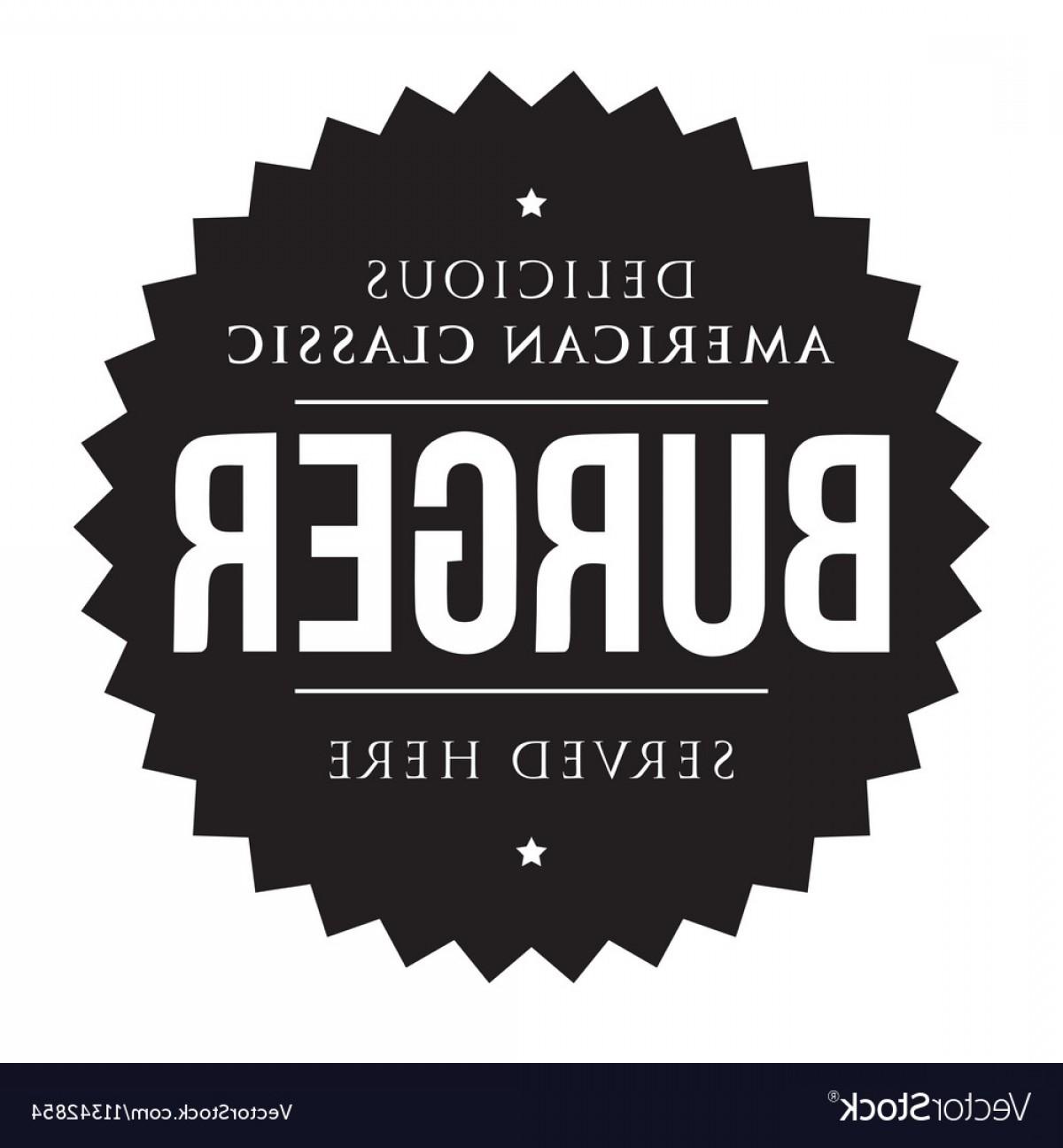 1200x1296 Burger Vintage Black Stamp Vector Orangiausa