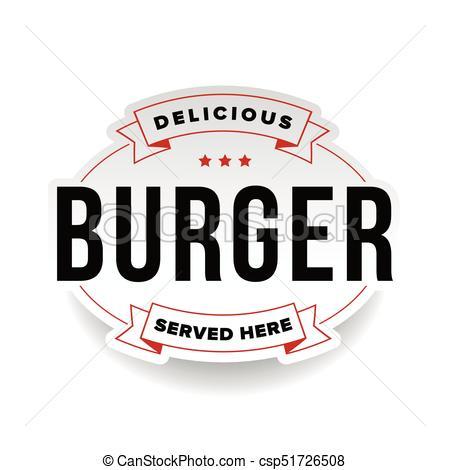 450x470 Burger Vintage Logo Stamp Vector.