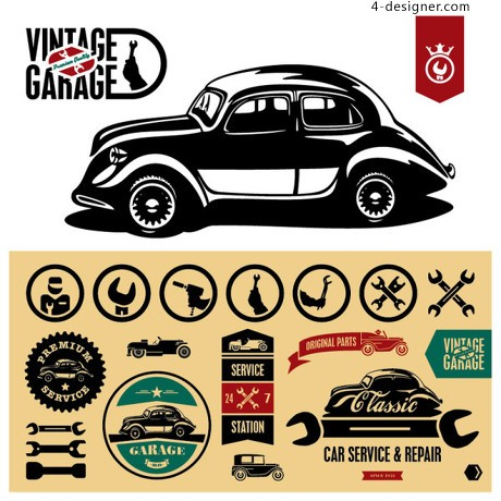 Vintage Sticker Vector