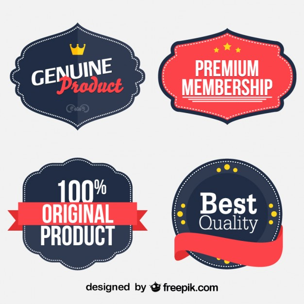 626x626 Retro Business Stickers Set Vector Free Download