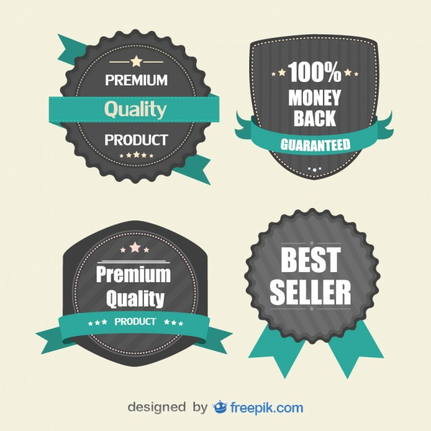 626x626 Retro Stickers For Marketing Vector Free Download