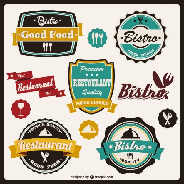626x626 Retro Food Stickers Vector Free Download