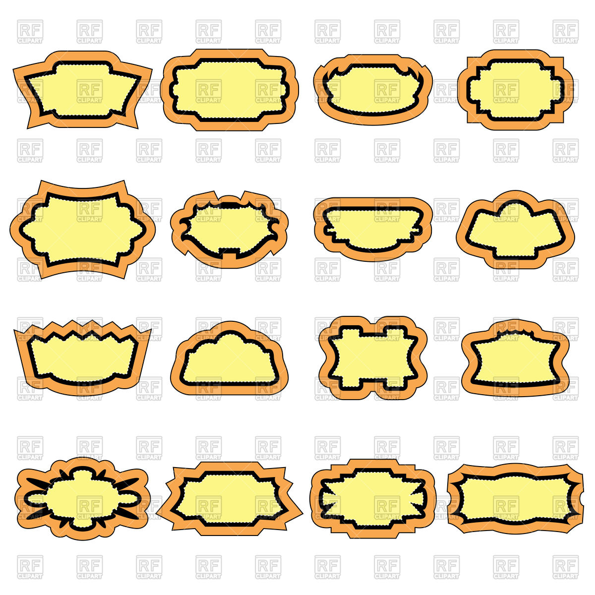 1200x1200 Set Of Vintage Stickers Vector Image Vector Artwork Of Signs