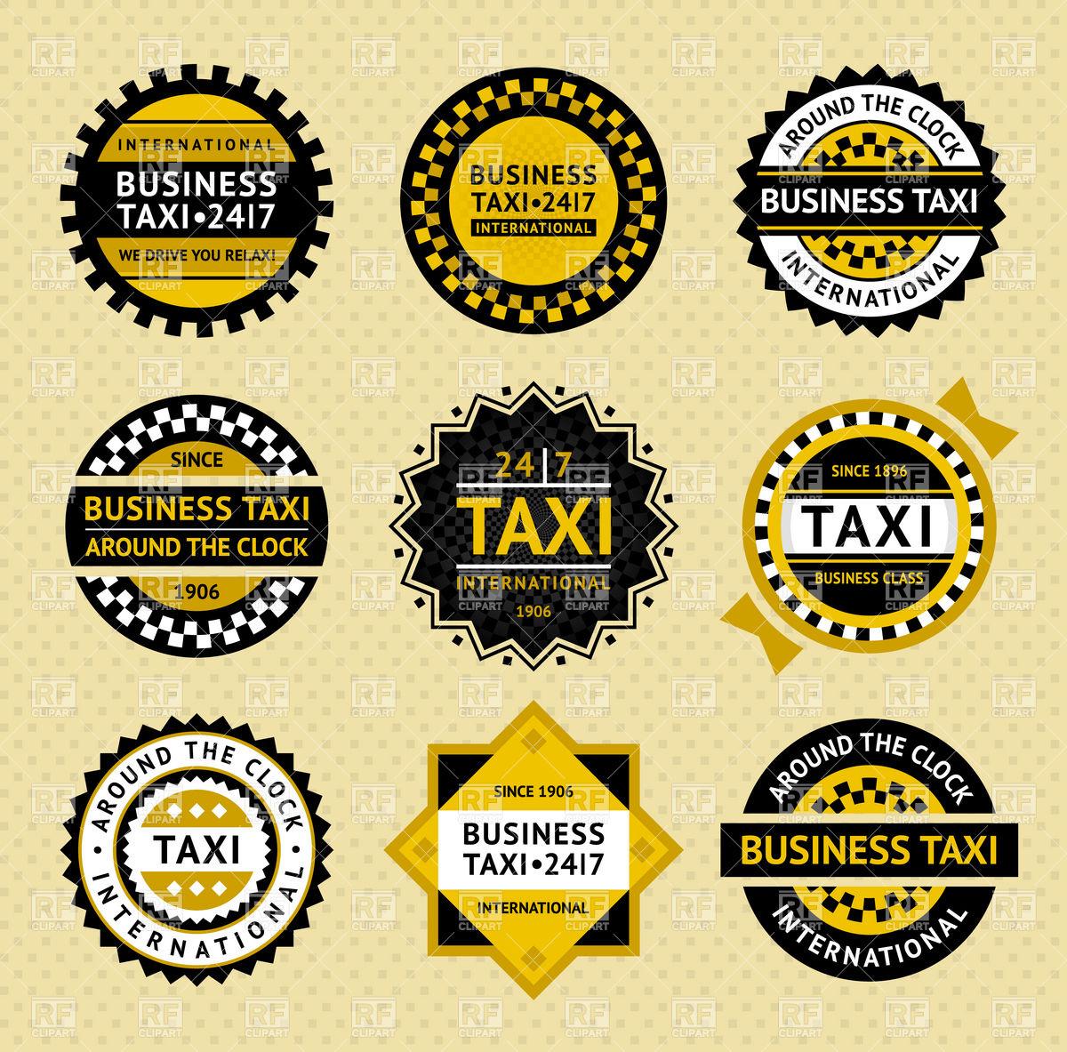 1200x1183 Taxi Round Emblems