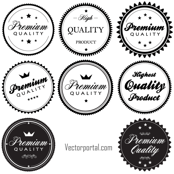 600x600 Vector Vintage Premium Quality Labels And Stickers Vectores