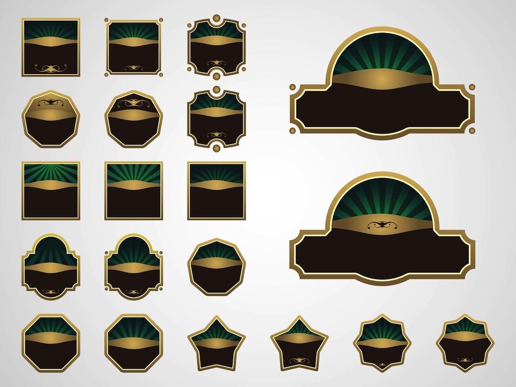 1024x768 Vintage Stickers Vector Art Amp Graphics