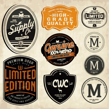 370x368 Vintage Beer Labels And Stickers Vector Free Vector In
