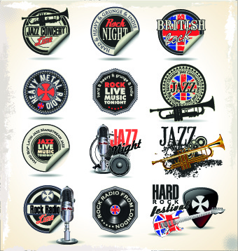 340x358 Vintage Music Sticker Vector Free Vector In Encapsulated