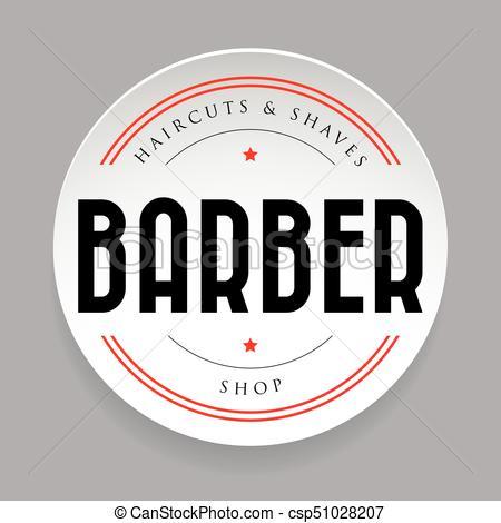 450x470 Barber Vintage Sign Sticker Vector.