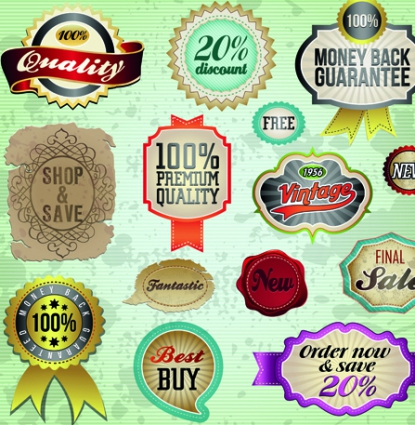 415x425 Vintage Premium Quality Labels And Stickers Vector Vector Free