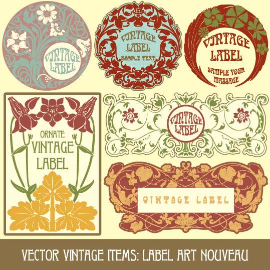 539x538 Vintage Stickers Vector 1 Vector Sources
