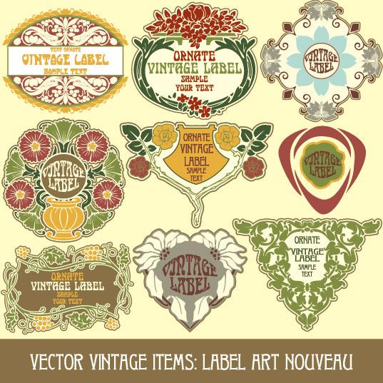 537x537 Vintage Stickers Vector 5 Vector Sources
