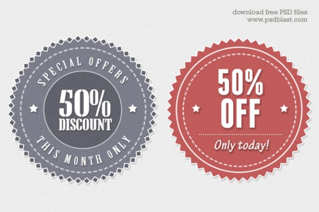 626x417 Vintage Style Vector Web Sticker Psd File Free Download