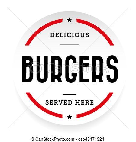 450x470 Burgers Vintage Stamp Sticker Vector.