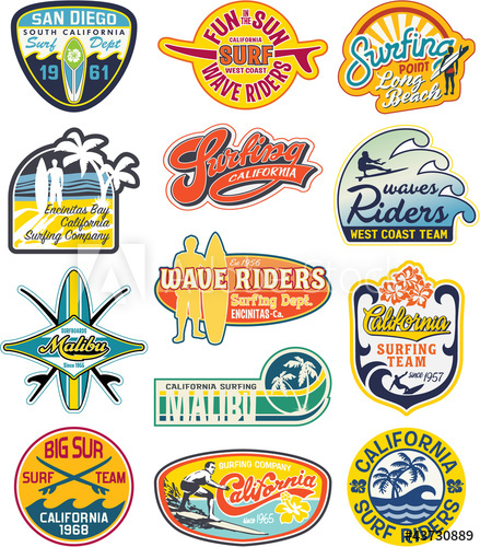 439x500 California Vintage Stickers Collection