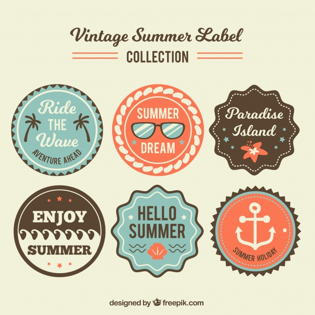 626x626 Collection Of Vintage Sticker Vector Free Download
