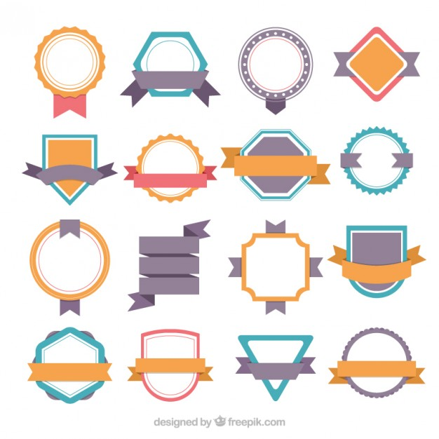 626x626 Cute Vintage Sticker Collection Vector Free Download