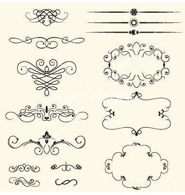 Vintage Swirls Vector