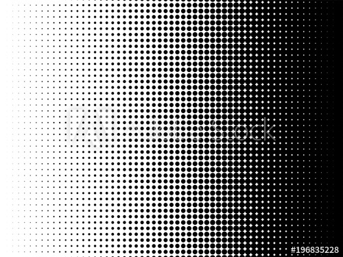 500x375 Radial Halftone Pattern Texture. Vector Black And White Radial Dot