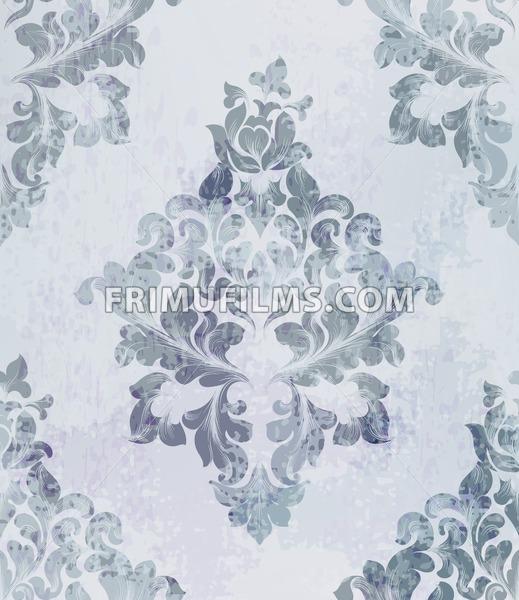 519x600 Vintage Old Paper Texture Vector. Luxury Baroque Pattern Wallpaper
