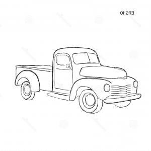 300x300 Old Retro Pickup Truck Vector Illustration Old Retro Pickup Truck